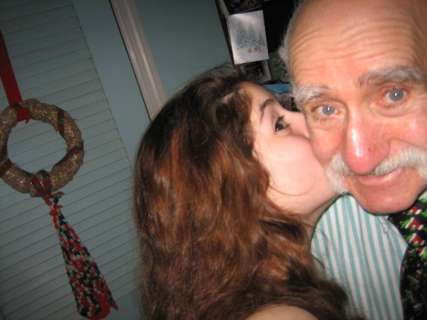 Silly with my dad in 2007
